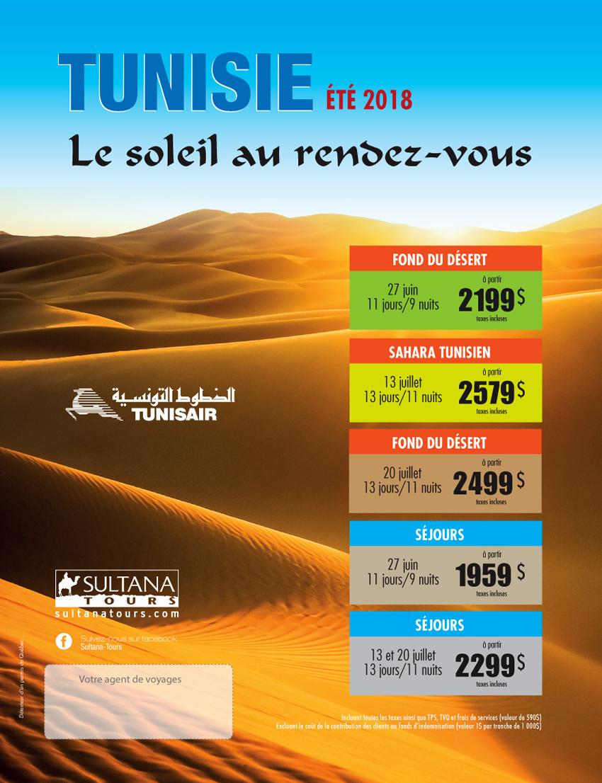 Circuit Tunisie été 2018