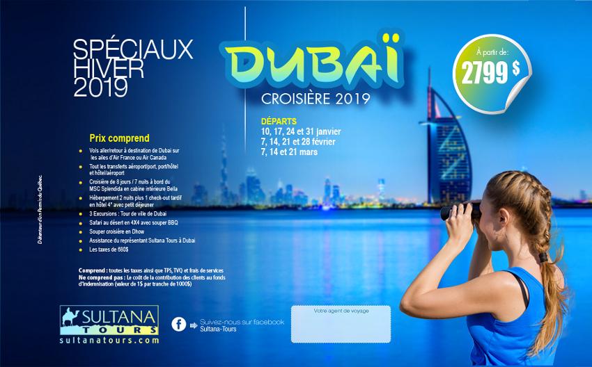 Dubaï Promotion Sultana 2019