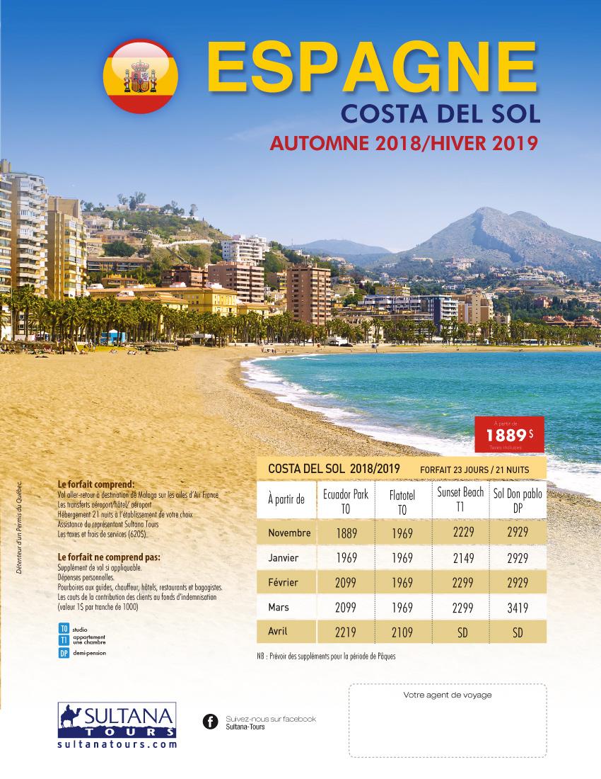 Espagne Promotion Sultana 2019