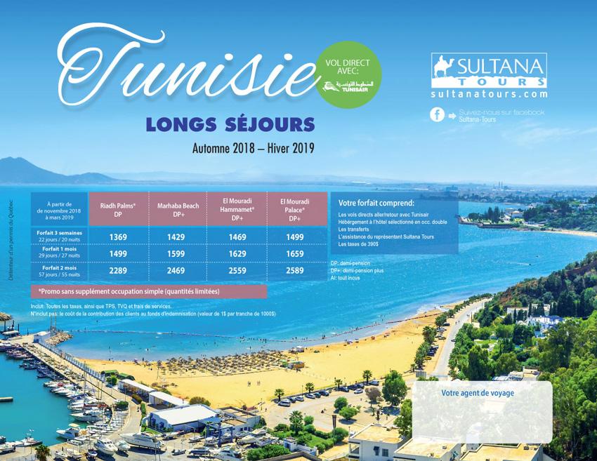 Long Séjour Tunisie Promotion Sultana 2018-2019