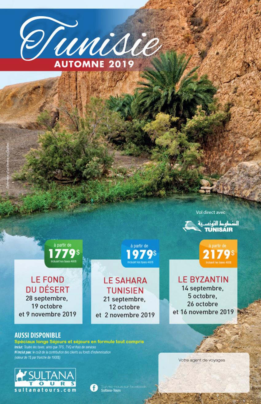 Le Tunisie Promotion Sultana Automne 2019