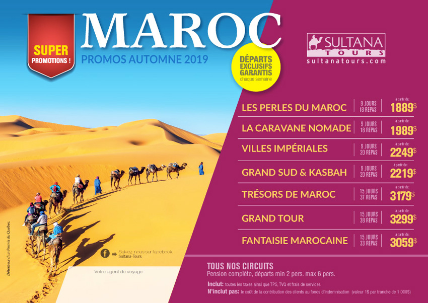 Le Maroc Promotion Sultana Automne 2019