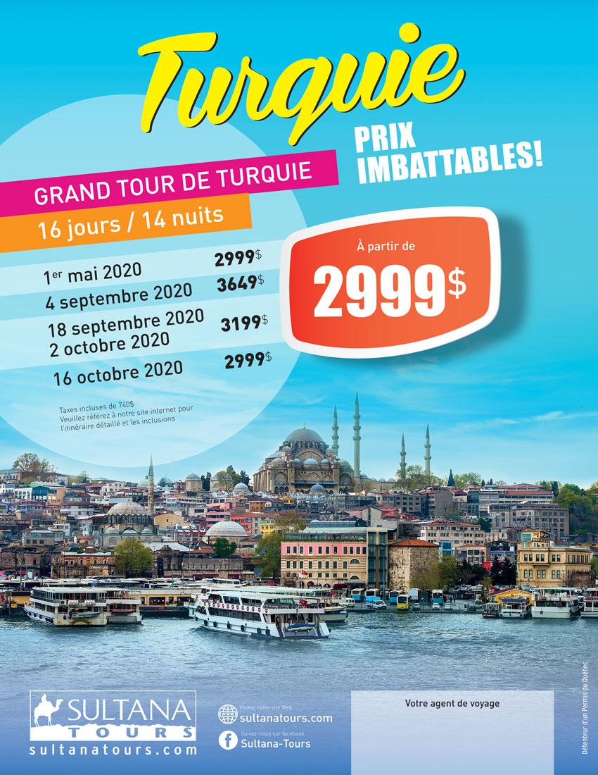 Grand Tour Turquie Promotion Sultana 2020
